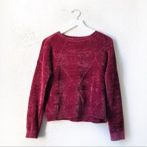 Romeo & Juliet | Cherry Red Knit Sweater S